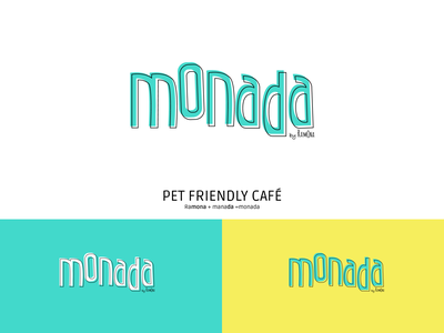 Monada branding design cafe branding brand logotype mascota mascotas perros dog moanada cafe restaurant pet friendly pets typography vector illustration graphic design logo identity branding