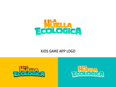Game logo game design game branding game ui kids game ecological footprint ecology huella ecologica game logo game app icon typography logotype brand illustration logo identity graphic design design branding