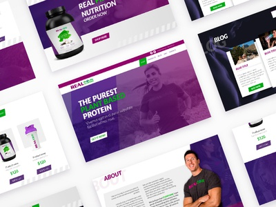 Web design for a new plant based protein interactive design ui logo website web design