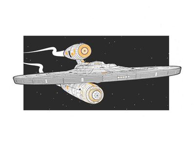 Star Trek   USS Kelvin wip explore cosmos stars vector uss kelvin illustrator universe spaceship space star trek