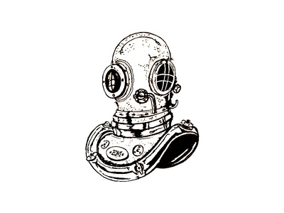 Inktober Day 4 - Underwater water diver pen sketch scuba underwater illustration 2017 inktober ink drawing