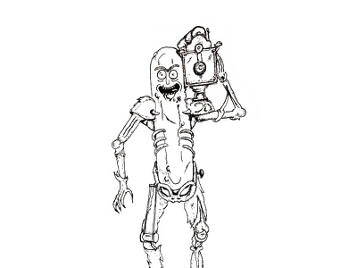 Inktober Day 14 - Fierce pickle rick rick sanchez rick and morty fierce ink sketch pen illustration drawing 2017 inktober