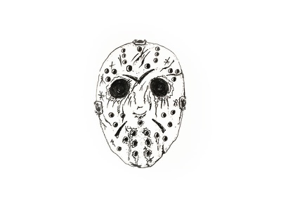 Inktober Day 31 - Mask halloween friday the 13th jason jason voorhees ink sketch pen illustration drawing inktober 2017