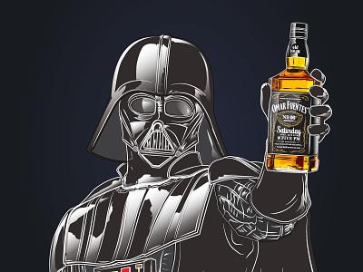 Darth Vader Birthday Invitation lucasfilm disney force invitation birthday dark side bottle jack daniels skywalker sith star wars darth vader
