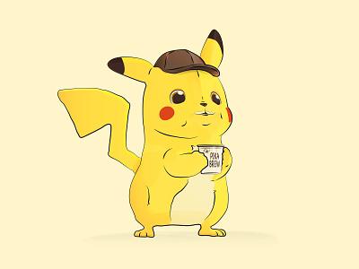 Detective Pikachu!! vector movie coffee cup pikachu pokemon nintendo detective pikachu