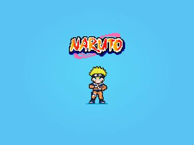 Naruto 8-Bit 8bit retro pixel art pixel manga comic cartoon ninja anime naruto