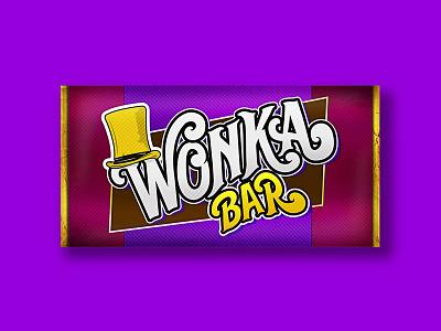 Wonka Bar!! weekly challenge weekly warm-up dribbbleweeklywarmup rebound illustrator package design packaging wonka willy wonka chocolate bar chocolate candy