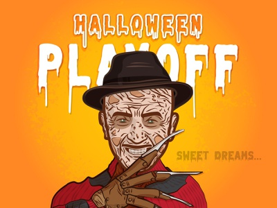 Freddy Krueger nightmare on elm street nightmare freddy krueger scary rebound playoff movie horror contest costume halloween stickers sticker mule
