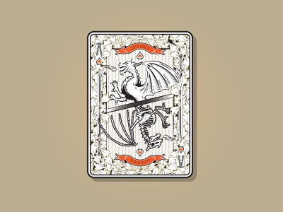 Dragon Card dribbbleweeklywarmup warmup card playing cards deck of cards ace of spades ace