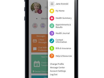Patient Portal Mobile App clean mobile app patient portal source sans pro