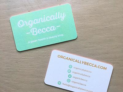 Organically Becca Business Card card business