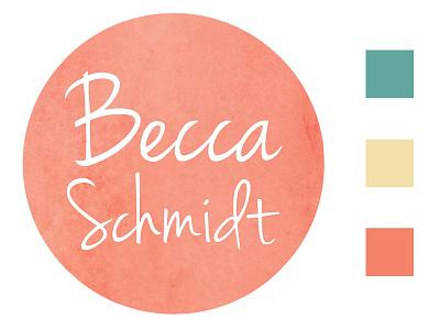 Logo & Color Scheme jenna sue logo portfolio pastel