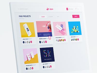 Zeplin software redesign card color pink web redesign