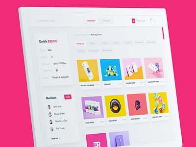 Zeplin Redesign II card color pink web redesign