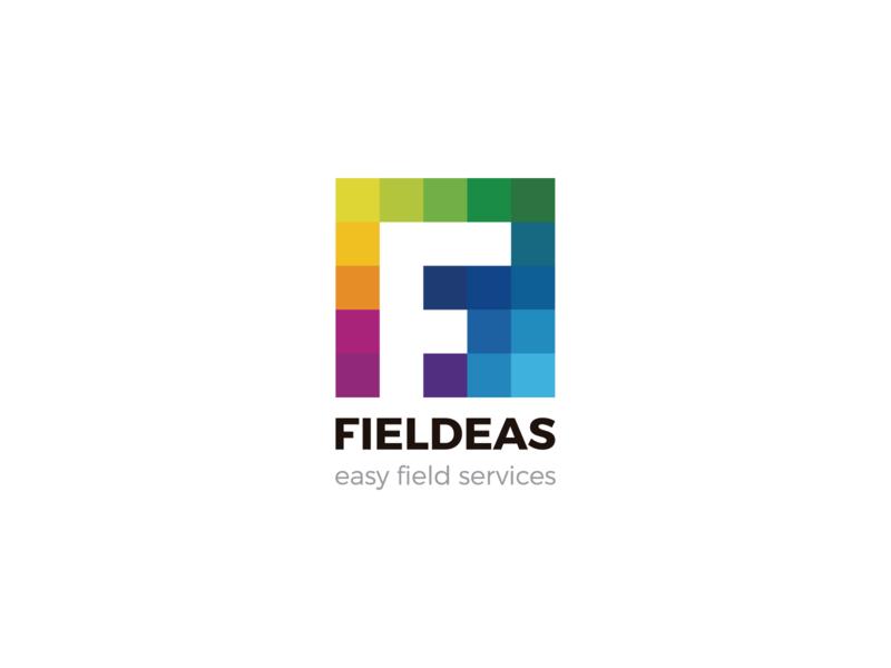 FIELDEAS Logo illustration vector logotipo app icon typography logo design branding