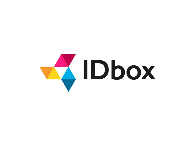 IDbox logo vector icon design logotipo typography branding brand logo