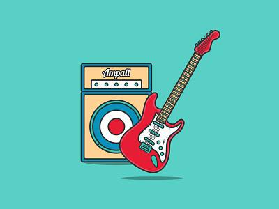 Interactive Guitar And Amp 🎸 amplifier amp guitar music instrument musical instrument codepen vector