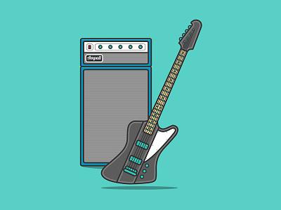 Interactive Bass Guitar And Amp 🎸 vector codepen musical instrument instrument music bass guitar bass guitar amp amplifier