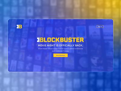 Blockbuster Redesign website videos redesign logo landing page streaming movies blockbuster