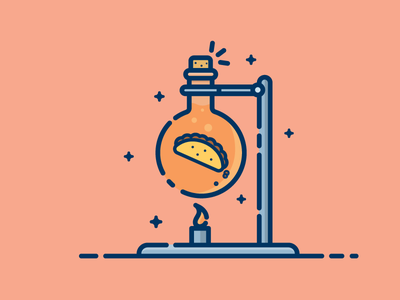 Food Science 7daystocreate flask science chemistry taco food
