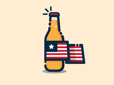 4th 4th of july usa america flag bottle beer