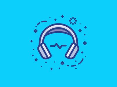 Headphones wave sounds music headphones