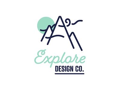 EDC outdoors mountains mark logo design explore edc