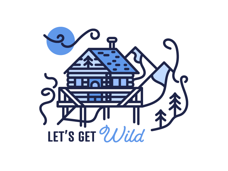 Let's Get Wild wild explore nature illustration icon wilderness mountains outdoors