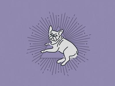 Illuminati? mystical mystic witchy illuminati purple bulldog wok line monoweight monoline dog illustration design puppy dog french bulldog violet