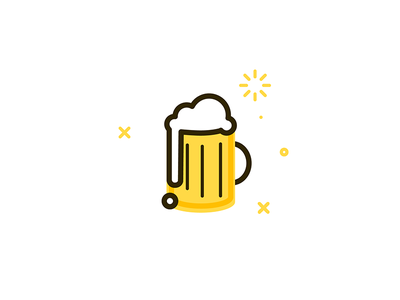 bb Beer small little icon art line illustration beer