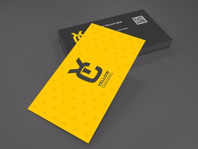 Yellow channel business card by pixel bakery dribbble colourmoves