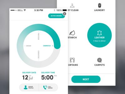 Laundry App UI ui design mobile ui uiux iphoneui ui