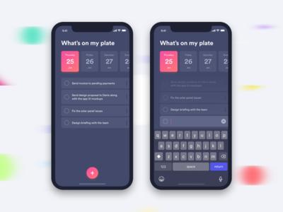 Daily UI - Task tracker (Dark Mode) to do ui list daily ui ui challange task