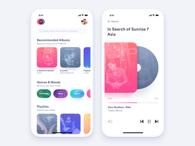 Music Player ux ui apple music itunes spotify player audio daily ui ui challange music