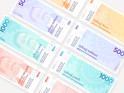 Lankan Rupees Redesign money currency sri lanka rupees