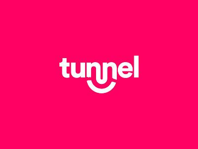 Logo for Tunnel VPN logomark typeface vpn branding identity logo