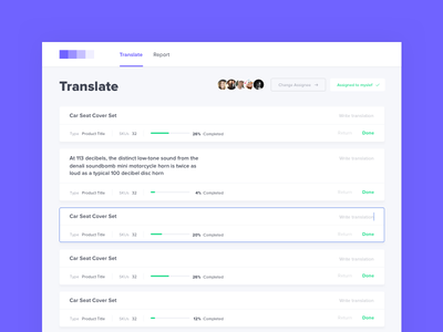 Dashboard UI | Trasnlate web app desktop app interface app cards ui ux uxdesign uidesign