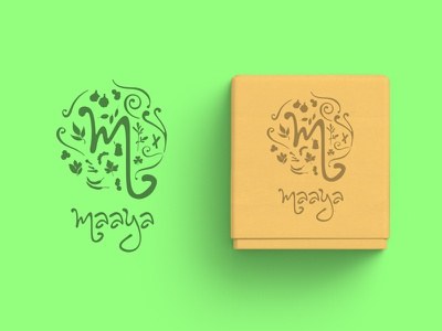 Maaya | Spices Brand Logo logomark typeface branding identity logo