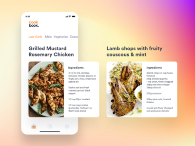 Recipe app restaurant recipe ux ui uxdesign uidesign app food