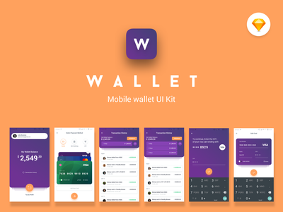 Wallet Mobile UI Kit fund transfer transactions withdraw top up send money finance app wallet app uikit ux design ui ui ux design