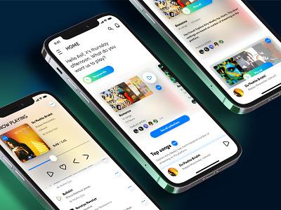 Airly Music Streaming music streaming music app iphone app ios app app ux ui design