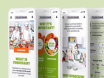 Foodchain Food Delivery illustration ios app design ui ux app