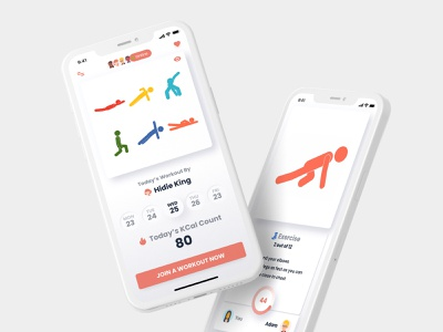 B ME App health app iphone app ios app workout app neumorphic neumorphic design