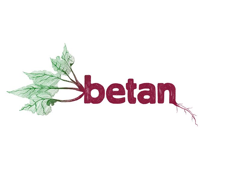 Logo for vegetarian restaurant in Stockholm logo logotype illustration restaurant vegetarian beet