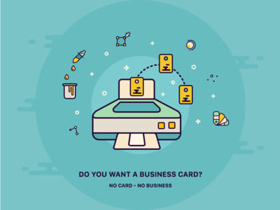 Do you want a business card? process print printer tools illustration business icons card icon
