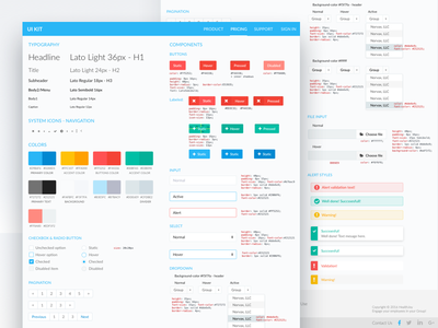 UI Kit for Dashboard elements guidelines ui guide web guide style dashboard kit ui