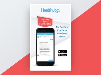 Promotional Poster web print advertisement advert phone health design promotion poster