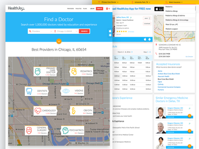 Doctor Web Directory design material portal page search find doctor ux ui website web