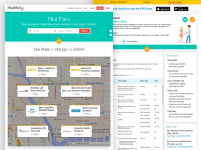 Insurance Plan's Portal website web ux ui search portal page material find doctor insurance plan