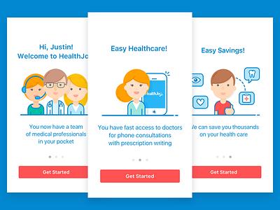 Mobile App Onboarding healthcare iphone ios ux ui cards app mobile onboarding